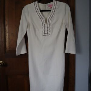 Lily Pulitzer White 3/4 sleeve dress Size: 2